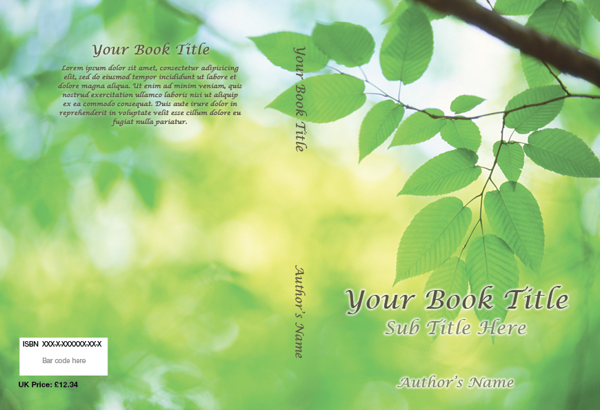 Printable Book Cover Template  Cover Template