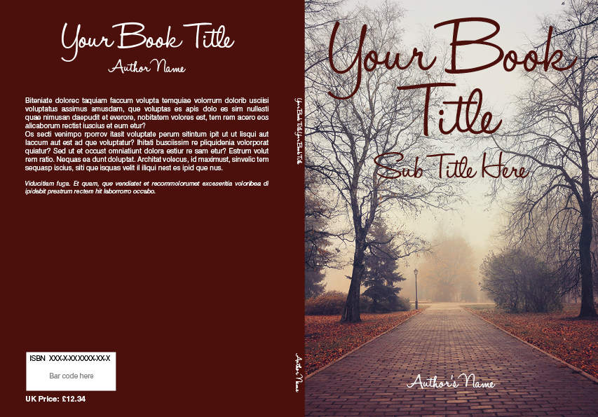 How To Make A Book Cover At Home : Book cover templates printing online